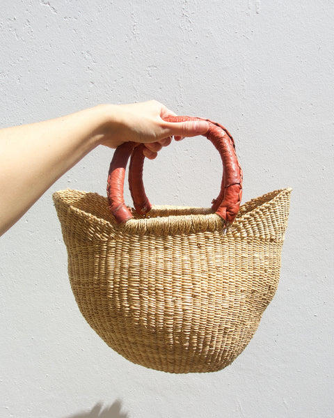 Mini Shopper Bolga Basket - Natural