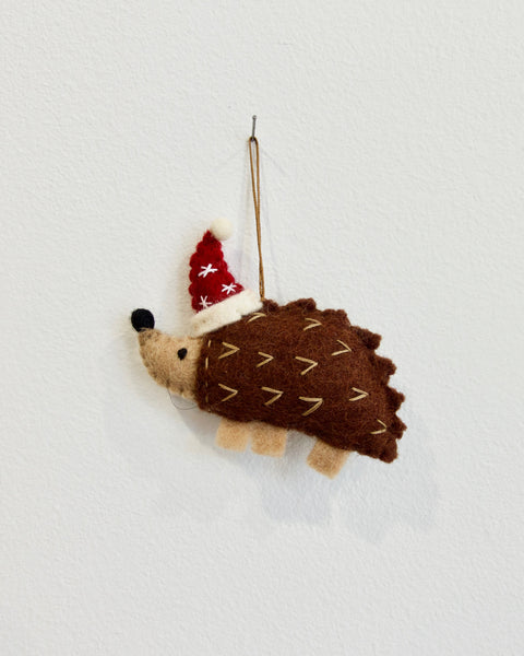 Echidna Christmas ornament
