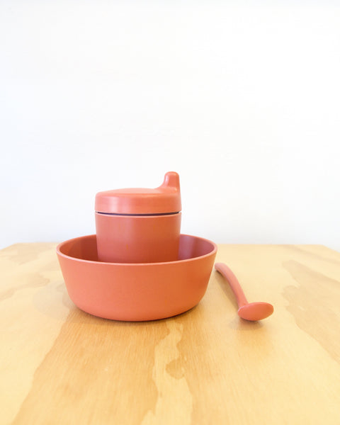 Bamboo Dinner Set - Brick