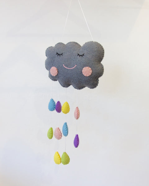 Cloud with raindrop wall hanging