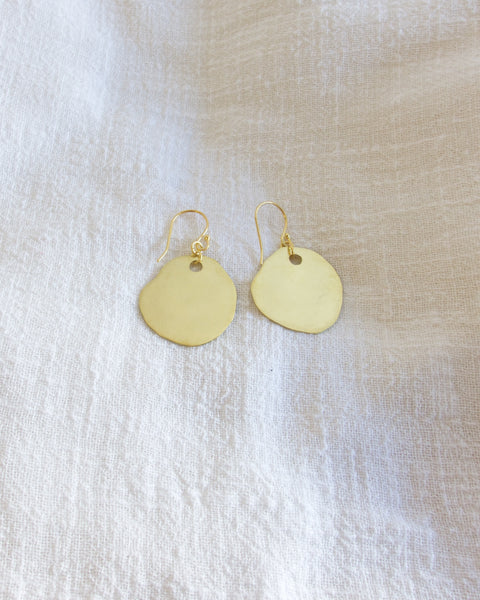 Mud Puddle Earrings Brass - Large