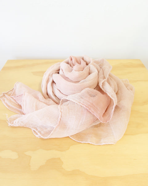 Plant Dyed Khadi Cotton Scarf - Large