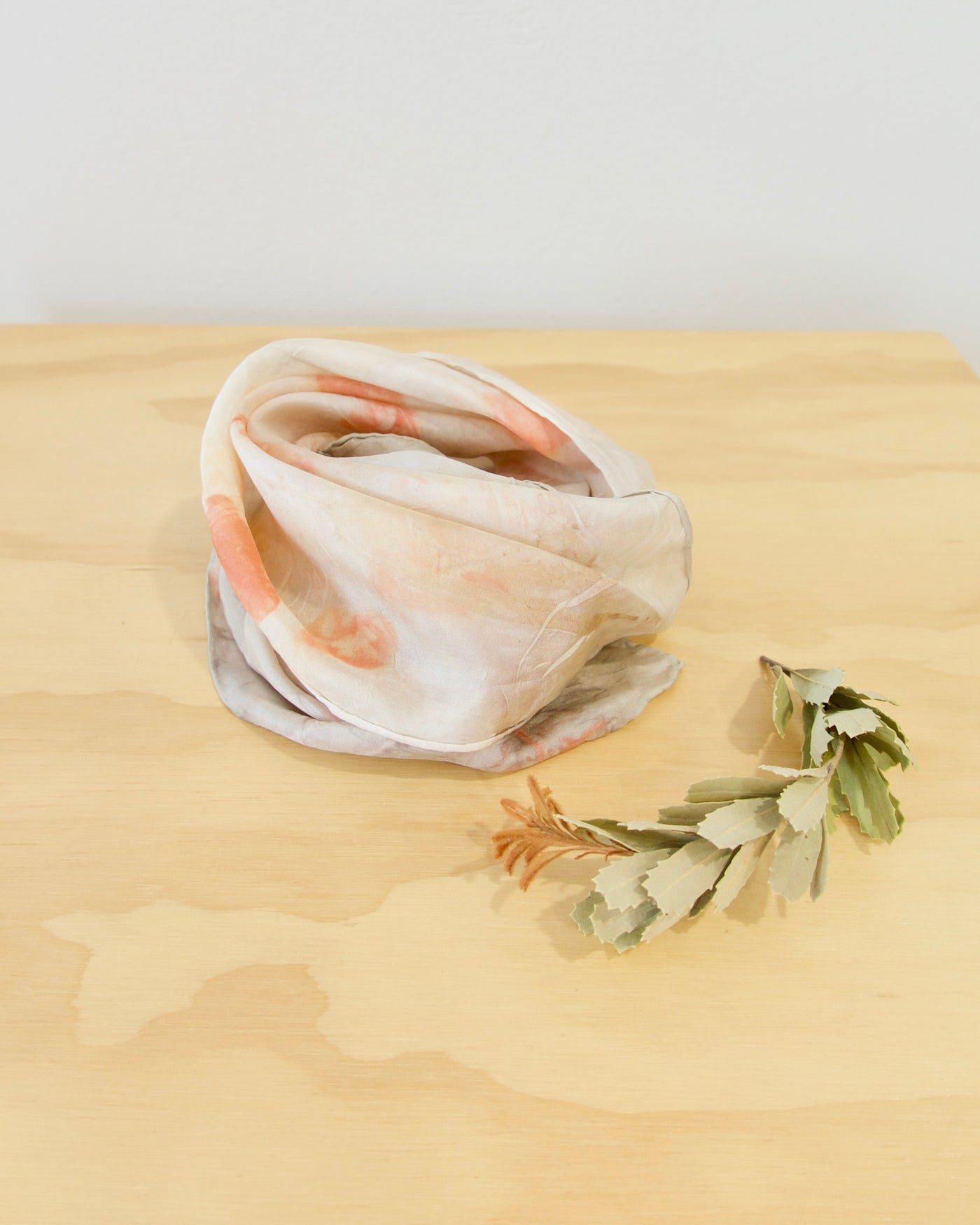 Plant Dyed Silk Scarf - Small