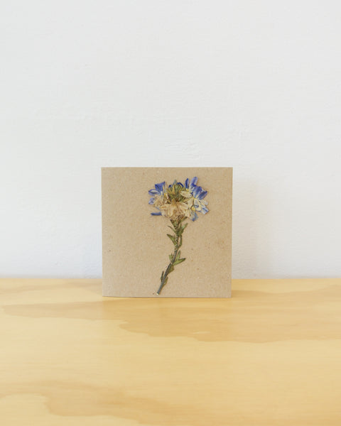 Pressed Native Flower Card