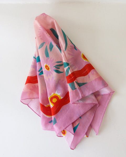 Eye See You Silk Cotton Scarf - 65cm x 65cm