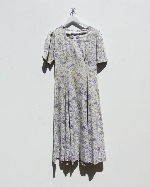 Vintage Laura Ashley Floral Maxi Dress - Size 8-10