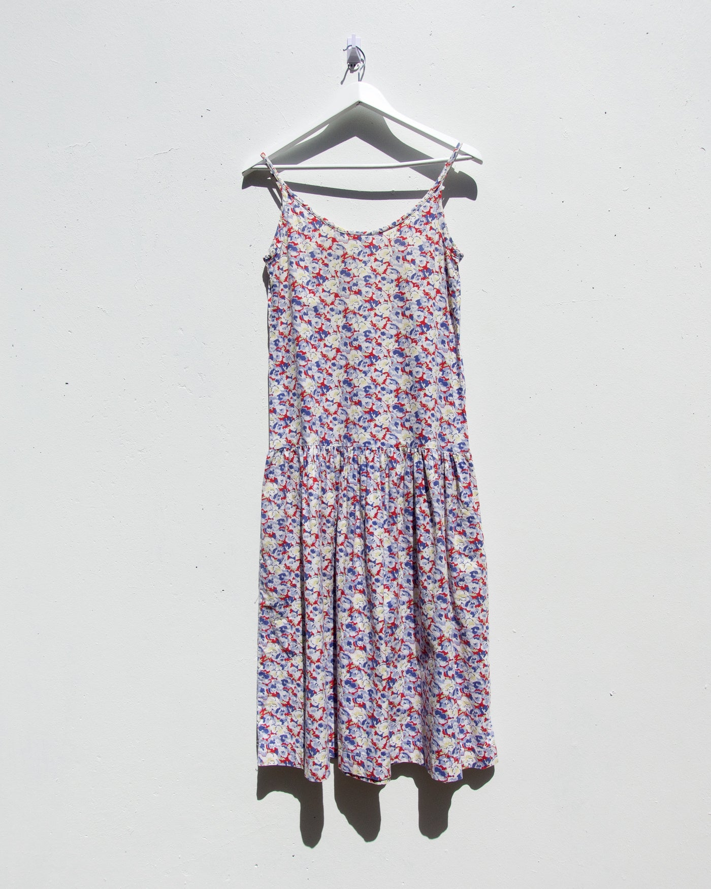 Vintage Laura Ashley Dropped Waist Floral Dress - Size 10-12