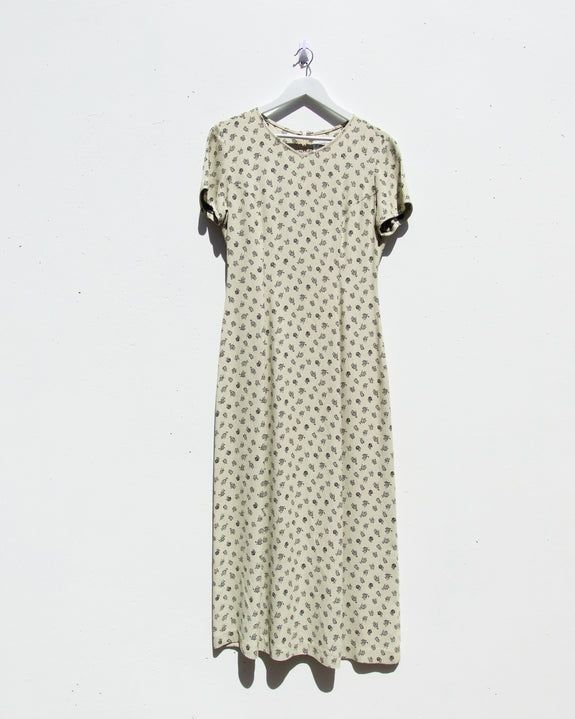 Vintage Laura Ashley Floral Maxi Dress - Size 8-12