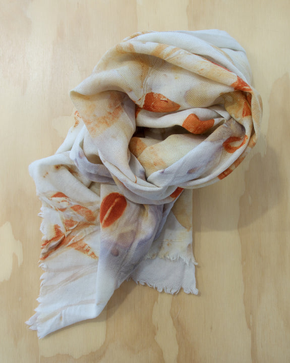 Plant Dyed Wool Shawl/Wrap - Large