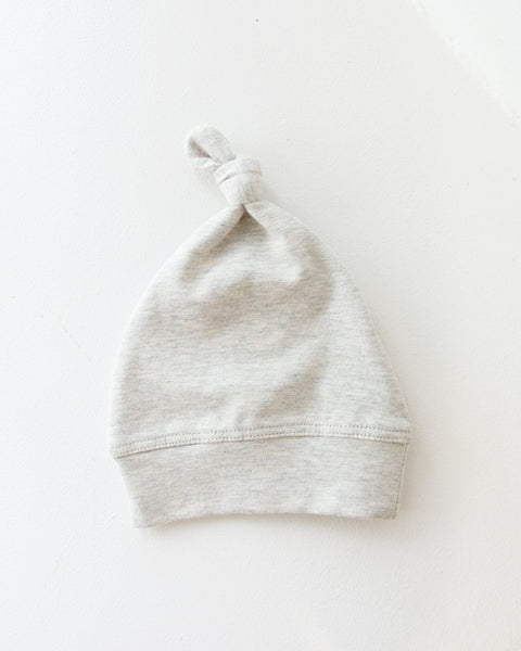 Romsey Organic Knot Hat - Grey Marle