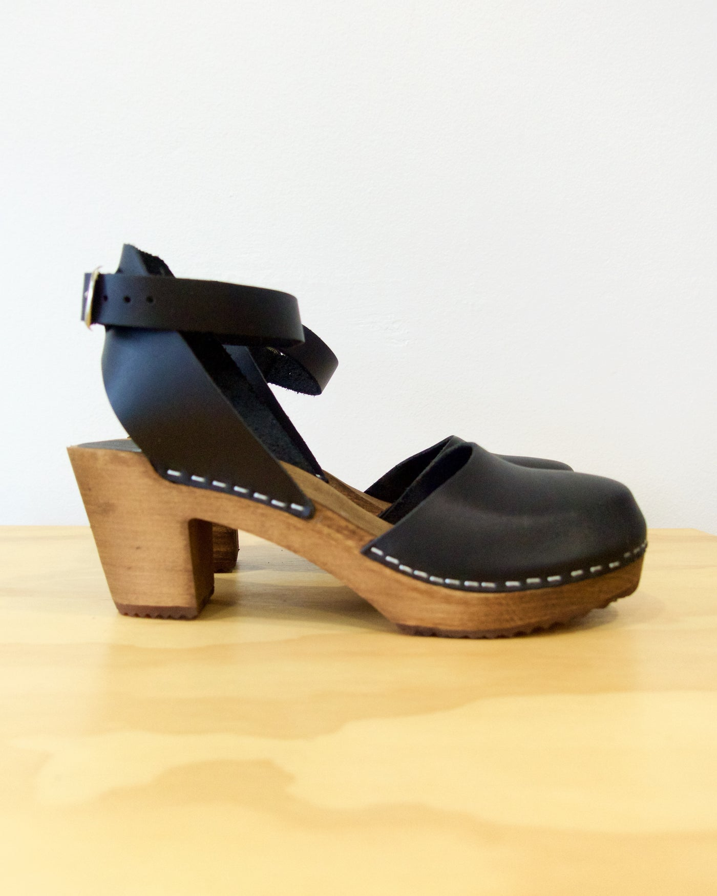 Ester Clog High - Black With Brown Base - LAST SIZE (36)!