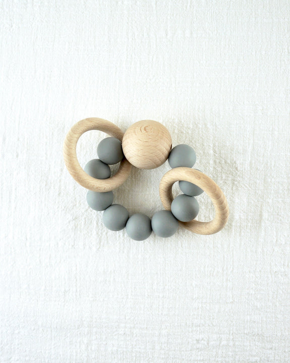 Saturn Teether - Dove Grey
