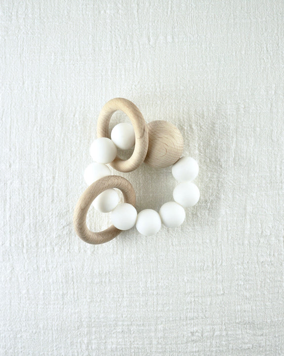 Saturn Teether - White