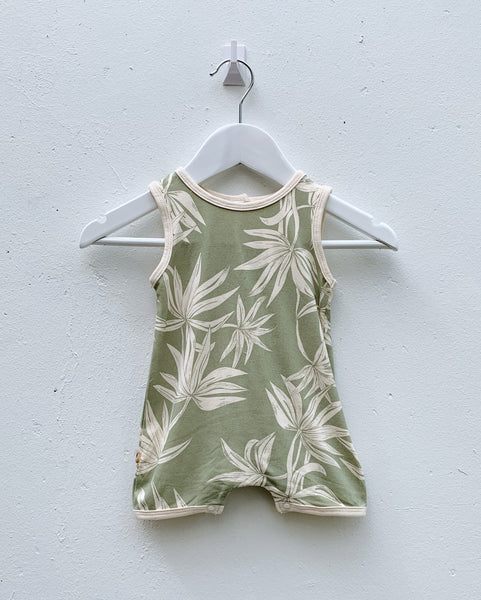 Bamboo Palm Playsuit - Sage