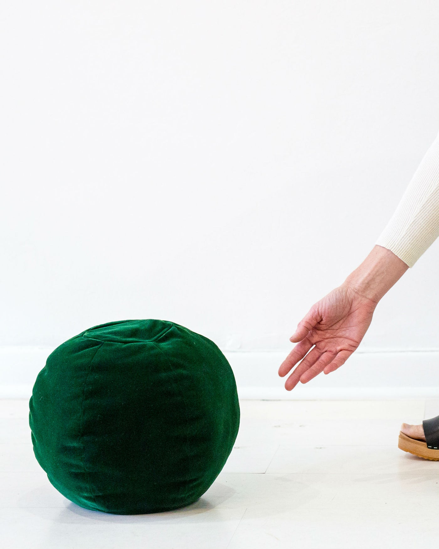 Globe Cushion - Green Velvet
