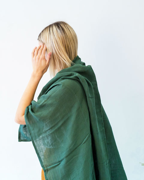 Organic Cotton Earth Wrap - Forest Green