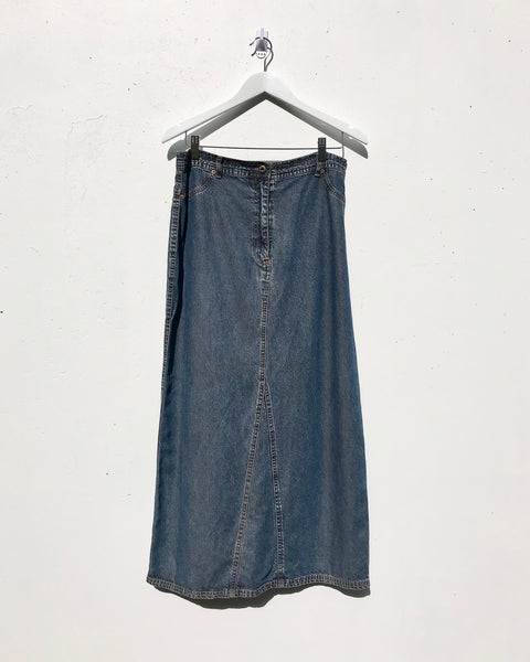 Vintage 'Harry Potter' Tencel denim maxi skirt - Size 12