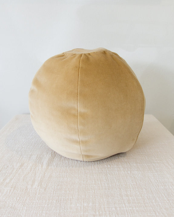 Globe Cushion - Ginger Root Tan Velvet