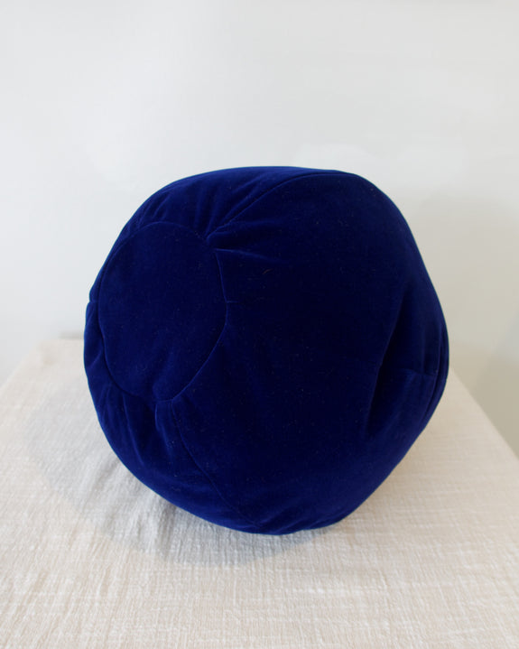 Globe Cushion - Vibrant Blue Velvet