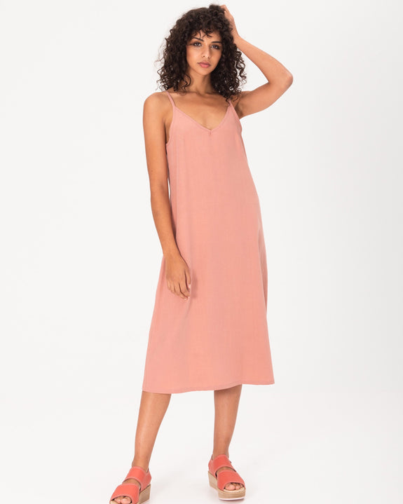 Camisole Midi Slip Dress - Pink Dust