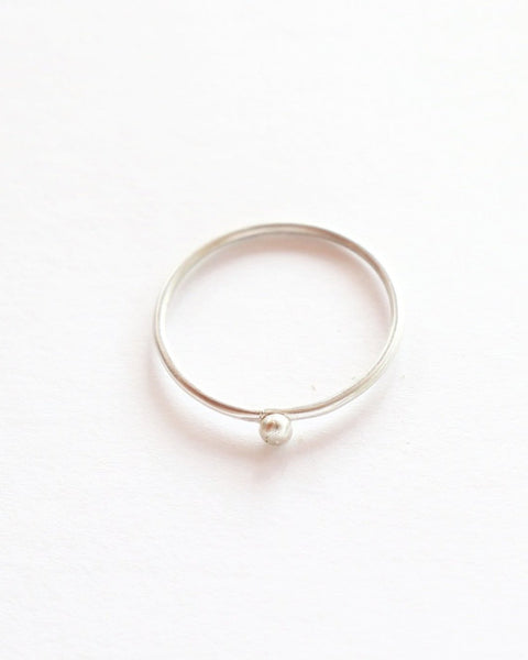 Silver Ball Ring - Sterling Silver