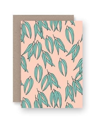 Gum Leaves Card
