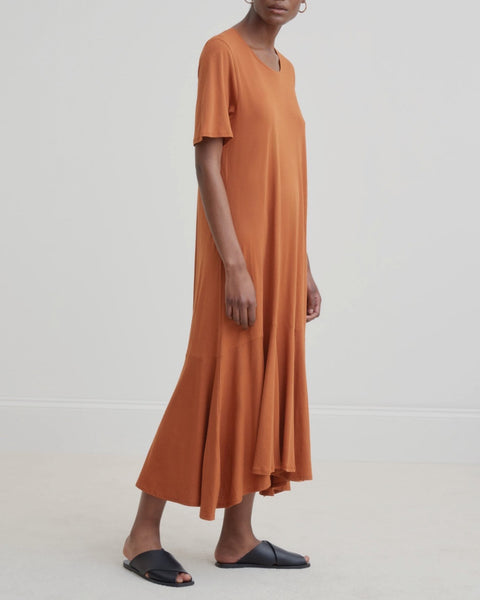 Flare Hem Dress - Copper - LAST SIZES (XS & S)!