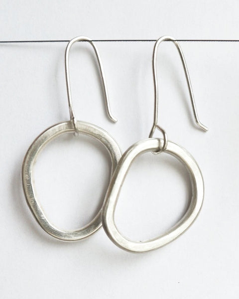 Mini Chunky Hoops - Sterling Silver
