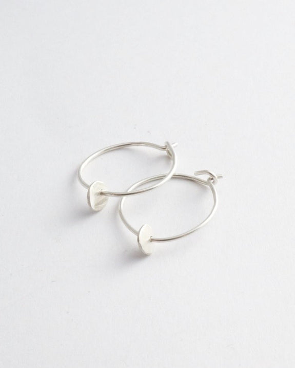 Argent Silversmith Mini Circle Hoops in Sterling Silver at Heyday Store Adelaide