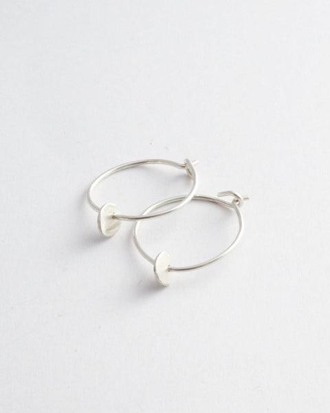 Mini Circle Hoops - Sterling Silver