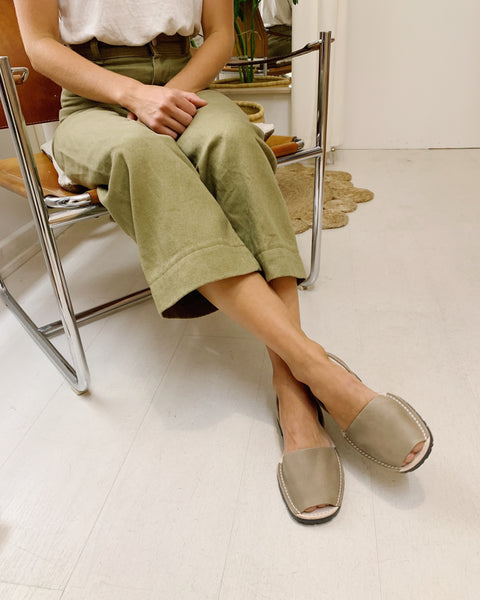 Avarca Leather Sandals - Taupe - LAST SIZES (35, 36 & 41)!