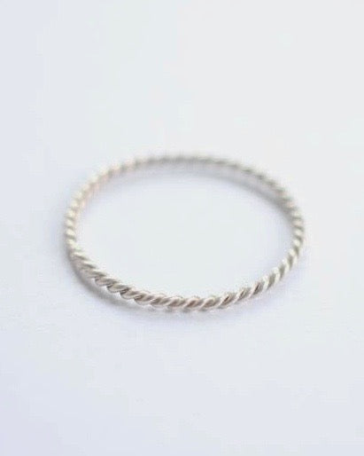 Argent Silversmith Twisted Wire Ring in Sterling Silver at Heyday Store Adelaide