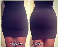 Before After Padded Butt Lifter Panty Body Shaper