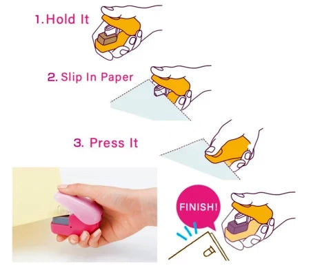 How to Use Stapleless Stapler Free-Staples Tool - PeekWise