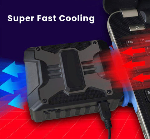 Best Laptop Cooler Air Extracting Laptop Cooling with Vacuum Fan - USB Powered, Wind Control, Quiet Operation, Ultra-Portable Radiators,CPU Cooler, Fan Heat Sink for Notebook, Laptop - PeekWise