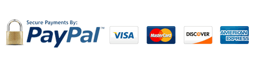 Available Payment Methods: PayPal, Visa, Amex, Mastercard, JCB, Diners Club, Shopify, Google Pay