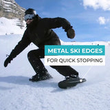 Metal Ski Edges for Quick Stopping