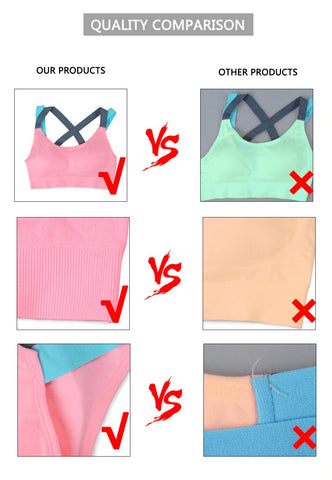 T-Shirt Sports Gym Bra PeekWise Quality Comparison