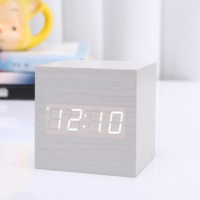 Modern Digital Wood Clock - PeekWise