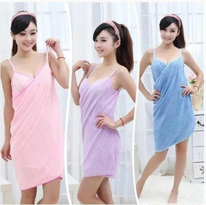 Wearable Bathrobe Towel Dress - PeekWise