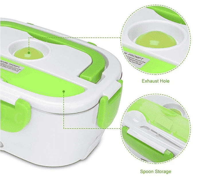 HotLunchy™ - Portable Heating Lunchbox Container - PeekWise