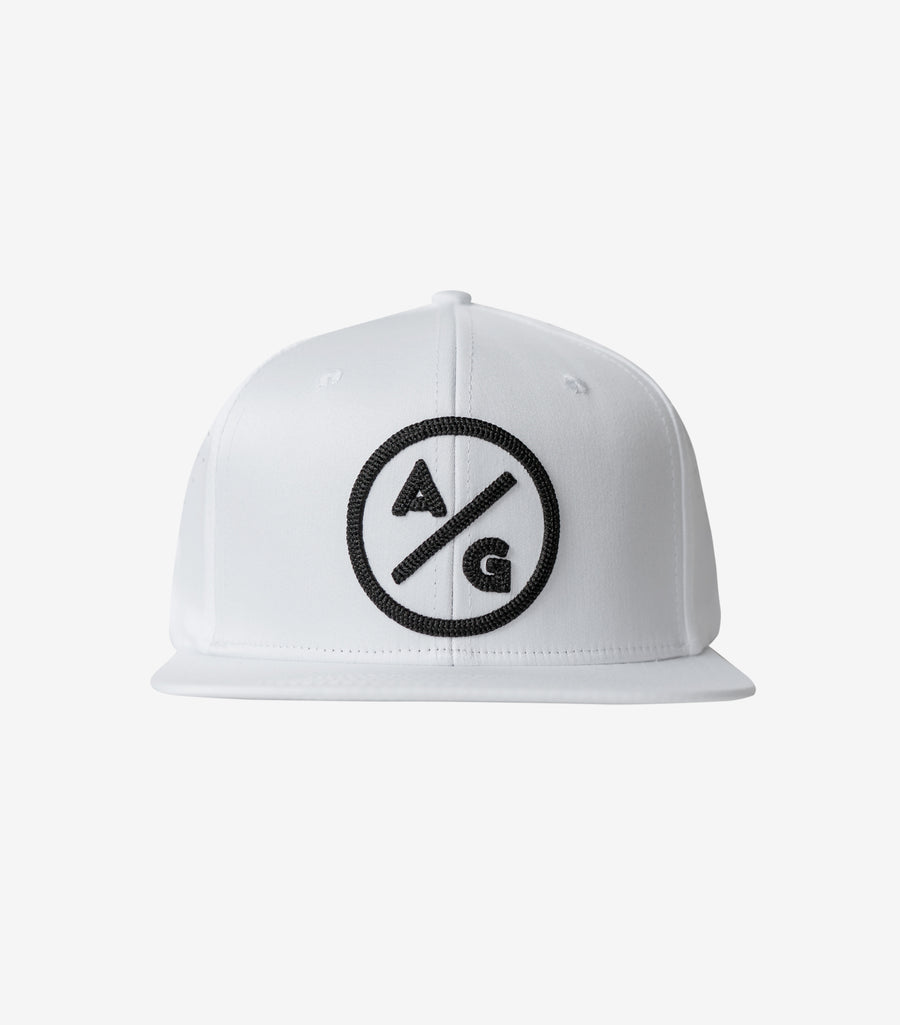 Roped Flat Brim White