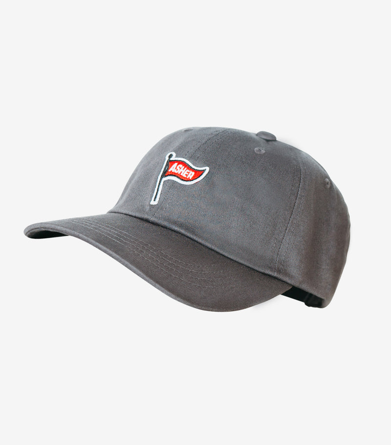 Classic Flag Dad Cap - Charcoal
