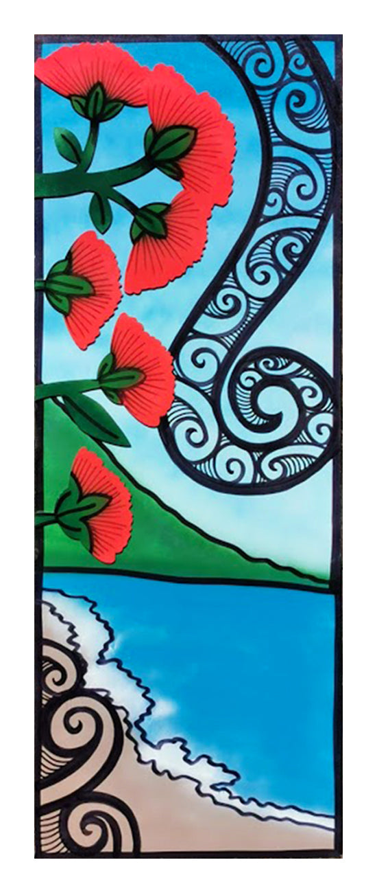 Handmade Indoor Wall Panel - Pohutukawa
