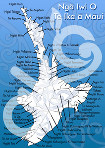 Te Iwi - North Island  A3 Learning Poster
