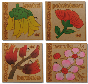 Flora Large Square Puzzles Set