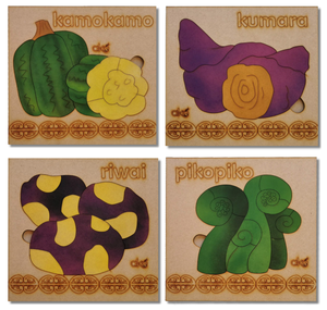 Kai (Food) Large Square Puzzles Set