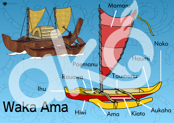 Waka Ama  A3 Learning Poster