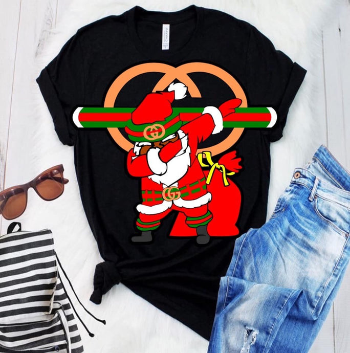 Black Santa Gucci Shirt
