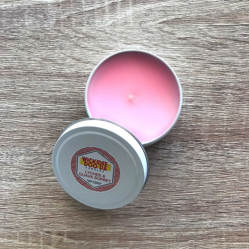 Lychee & Guava Sorbet Soy Candle | Small Tin
